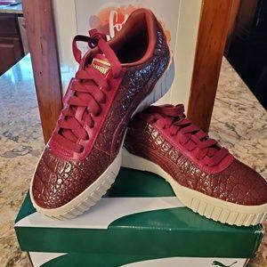 Puma Cali Croc Women's Sneakers- Pomegranate